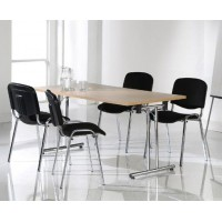 Meeting Table and Chairs Bundle-Chrome